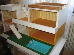 Bungalow Bodo Hennig 70s Dollhouse doll's nest-doll kitchen | EBay