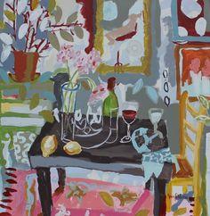 """supper in the garden"" by NB Westfall"