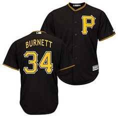 546f14d7a Get this Pittsburgh Pirates A.J. Burnett Alternate Cool Base Replica Jersey  at ThePittsburghFan.com Pittsburgh