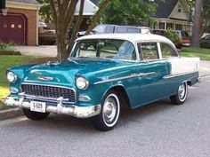 1955 Chevrolet Belair - The car that changed the american automobile forever. My dream car! 1955 Chevy, 1955 Chevrolet, Chevrolet Bel Air, Vintage Cars, Antique Cars, Volkswagen, Automobile, Us Cars, Camping