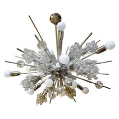 For Sale on - Mid-Century Modern Lobmeyr Metropolitan Opera exploding star chandelier, circa This stunning iconic chandelier creates the effect of a starburst Modern Brass Chandelier, Star Chandelier, Vintage Chandelier, Glass Chandelier, Chandeliers, Metropolitan Opera, Ceramic Tableware, Contemporary Lamps, Austrian Crystal