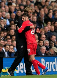 Big hugs for Adam Lallana