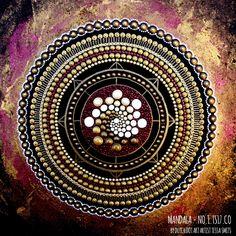 abstract dot art painting MANDALA 01TS17CO Tessa Smits Full