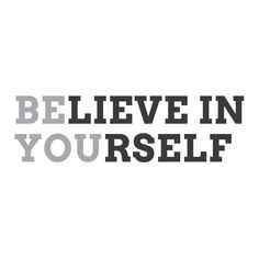 """Wall Quotes Wall Decals - """"Believe In Yourself. Be You."""""""