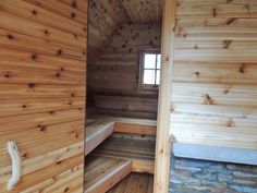 People have been enjoying the benefits of saunas for centuries. Spending just a short while relaxing in a sauna can help you destress, invigorate your skin Rustic Saunas, Outdoor Sauna, Outdoor Decor, Play Houses, Building Design, Garage Doors, Shed, Stairs, Cottage