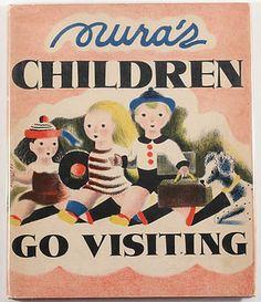 Nura's Children go Visiting, by Nura Woodson Ulreich, via lab-curio