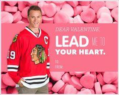 Chicago Blackhawks Valentines    Jonathan Toews