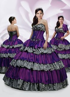 Cheap ball gown quinceanera, Buy Quality gowns quinceanera directly from China ball gowns quinceanera dresses Suppliers: 2017 Custom Made Debutante Dress Free Jacket&Bag Purple &Zebra Stripe Beading Ball Gown Quinceanera Dress Vestidos De Fiesta Striped Prom Dresses, Grad Dresses, Ball Gown Dresses, Homecoming Dresses, Bridal Dresses, Formal Dresses, Party Dresses, 15 Dresses, Dress Prom