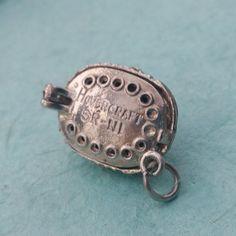 Silver Nuvo Hovercraft Charm - Vintage Opening Bracelet Charm, Pendant by LittleVintageCharmCo on Etsy