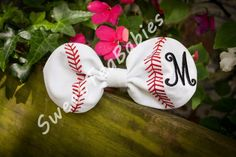 Fabric baseball hair bow in the hoop embroidery by sweetteababies  embroidery design