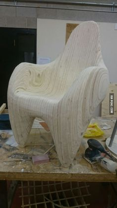 I am about 90% done with my chair. Tell me what you think! (and yes it is heavy but super comfortable)