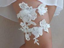 ivory garter, Wedding Garter, Handmade garters,