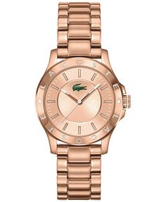 Lacoste Women's Madeira Rose Gold Ion-Plated Stainless Steel Bracelet Watch 32mm 2000851