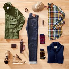 East is the Beast Field Guide Shop the Guidebook on our website. Casual Wear For Men, Stylish Mens Outfits, Casual Outfits, Fashion Mode, Mens Fashion, Fashion Outfits, Fashion Styles, Mode Masculine, Mens Outdoor Fashion