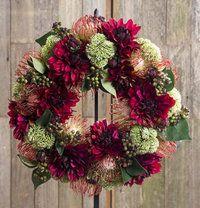 Australian Protea Christmas Wreath 40cm - Lifestyle Home and Living