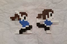 Perler Bead Art Wii Fit Trainer Sprite, Mario Maker Bead Sprite, Hama Beads