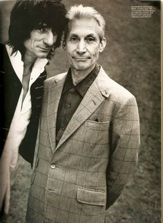 Charlie Watts and his beloved suits, pictures.