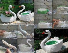 plastic-bottles-swan-plant-pot