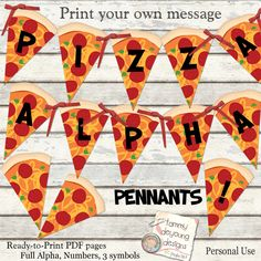 Pizza Party Banner Printable *Pizza Alphabet Garland* DIY Print your own message for ninja turtle, birthday, pizza party decorations Birthday Themes For Boys, Happy Birthday Banners, Happy Birthday Me, Birthday Fun, Birthday Stuff, Kids Pizza Party, Pizza Party Birthday, Printable Banner, Party Printables
