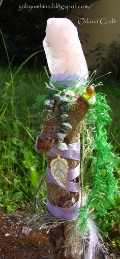 Blessed wand Kuan Yin whispering  crystals pagan par Odanacraft