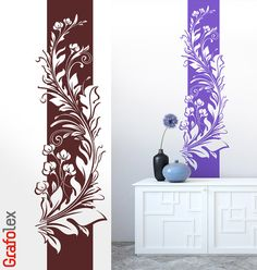 Pared banner Cirrus flor floral pared pegatina hibiscus pared