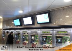 John F. Kennedy JFK International Airport - ViewStation CoverStation, Indoor Signage Protection for Airports, ViewStation by ITSENCLOSURES #ViewStation