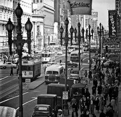 Market Street, San Francisco CA in 1950