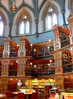 Library of Parliament of Canada. YAY!! so happy I live in Canada. I would love to be in that photo, though.