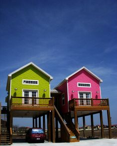 Corpus Christi, Texas. My mom always talks about these houses and how their so pretty and cute:) and now Steven found them on Pinterest!!