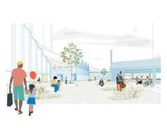 architect_ Tomaso Boano location_ Amsterdam, Netherlands project year_ 2017 collaborators_ Boano Prišmontas, Valentine Gruwez, Lieve Smout competition_ Europan 14 from the architects_ Piarcoplein L… Project Presentation, Presentation Skills, Presentation Design, Architectural Presentation, Presentation Boards, Architecture Drawings, Landscape Architecture, Architecture Design, Architecture Diagrams