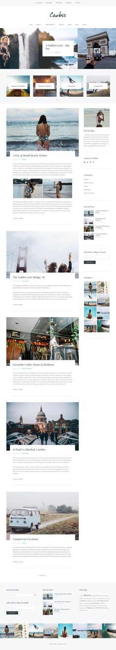 Carbis, a bold and elegant blogging WordPress theme by Sculpture Qode