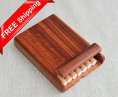 Exquisite Rosewood Cigarette Box Handcrafted Wooden by iWoodShop, $19.90 (chads birthday?)