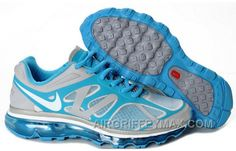 official photos ee521 7a15f Discount Women s Nike Air Max 2012 Shoes Grey Light Blue White, Price    104.58