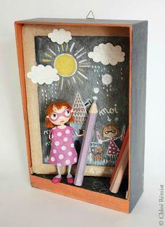 """""""Gribouille"""" - Photo de BOITES ET CADRES DISPONIBLES * Available boxes and frames - Tibout de blog"""