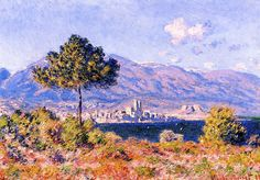 Claude Monet (1840-1926) - View of Antibes from the Plateau Notre-Dame - 1888 - Private collection