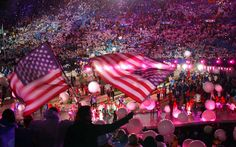 Thousands of fans and athletes celebrate the end of the 2002 Salt Lake Olympics at the dazzling Closing Ceremony at Rice-Eccles Stadium. A recent report says a stadium expansion would be completed by 2022, as part of a possible bid for the 2022 Olympics. (Tribune file photo)