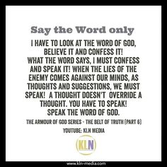 Join the conversation with us, by visiting our channel on YouTube and watch our - Armour of God series!  The enemy is seeking to attack our sonship, as he did with Jesus. We must declare what the Word says, as we are sons of God, (Romans 8) when we are born again (John 3:3-5). The Word says, we have been adopted and cry Abba, which means; Father. Be encouraged, no matter what you are facing. The Word of God is a two edged sword. Wield it against the wiles of the devil, knowing you are…
