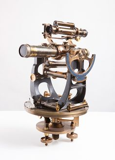 "No. 61 Theodolite with astrolabe      Brass and metal with wooden case     Signed ""Young & Sons - Philadelphia"" n° 7429, 1906     SOLD"