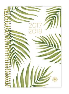 2017-18 Daily Planner, Palm Leaves PRE-ORDER || palm tree leaves print that is inspired by the tropical weather to keep students thinking warm and happy thoughts all year round! This planner listing is for the 2017-18 academic year.