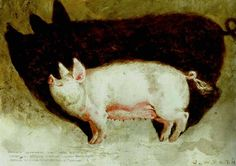James Wyeth - The Monte Carlo Pig,  watercolor and pencil on paper