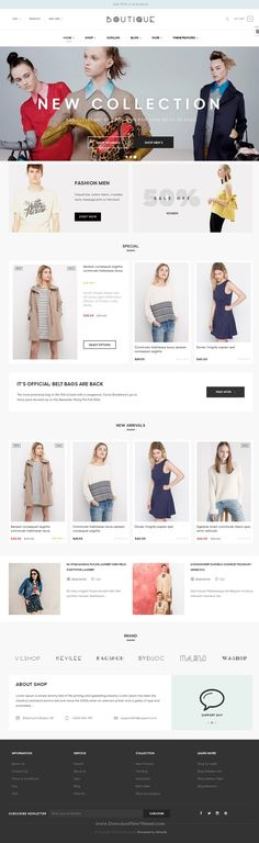 ST Boutique is a tidy and responsive #Shopify theme suitable for any kind of boutique, #clothes store, Fashion #Shop, makeup products or similar websites. Download Now!
