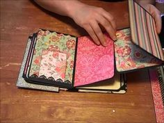 """This is a video of the envelope mini album I created using Fancy Pants """"It's the Little Things"""" paper line. The album was inspired by a tutorial by Kathy Ort. Mini Album Scrapbook, Mini Albums Scrap, Scrapbook Journal, Tutorial Scrapbook, Paper Bag Album, Mini Album Tutorial, Diy Mini Album, Album Book, Album Photo"""