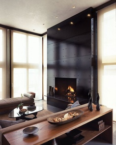 Beinfield Architecture | Living room, fire place.