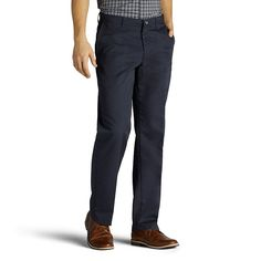 Men's Lee Total Freedom Relaxed-Fit Comfort Stretch Pants, Size: 34X29, Blue (Navy)