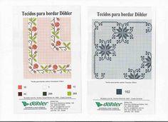 Gráfico bordado espanhol - bordado xadrez