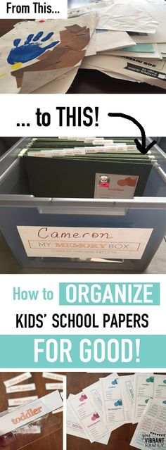 Oh my gosh... YES! Finally a great way to organize kids school papers once and for all-- from their toddler years through twelfth grade! What a great keepsake to pass on to your kids too! Hundreds of moms are loving this amazing method to organize school papers... and you'll be doing a happy dance once you start using this method too! (affiliate link)