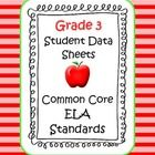 Color coded and teacher friendly! These Common Core English Language Arts data sheets are a great at-a-glance data resource for student and parent ...