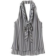 Banana Republic Women Factory Print Tie Neck Blouse (170 BRL) ❤ liked on Polyvore featuring tops, blouses, neck ties, tie neck halter top, print blouse, tie neck tie and tie neck top