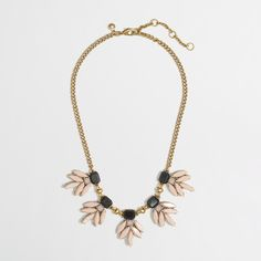 J.Crew Factory stone leaves necklace