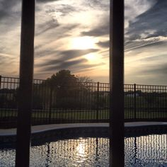 #pool #sunset #farmland #illinois
